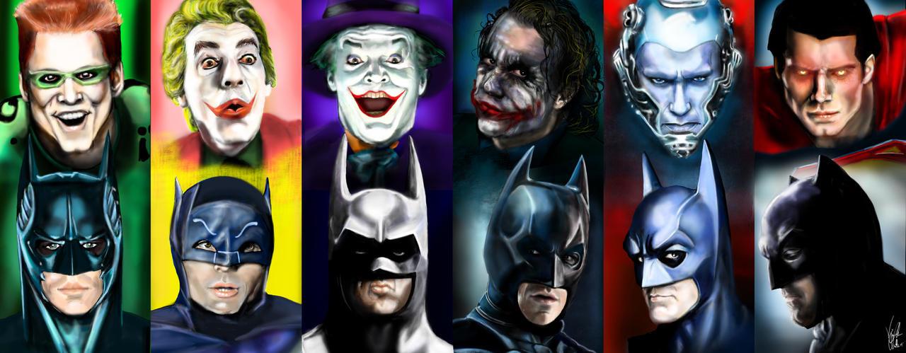The History of Batman 1966 - 2016 by Vinnyjohn13