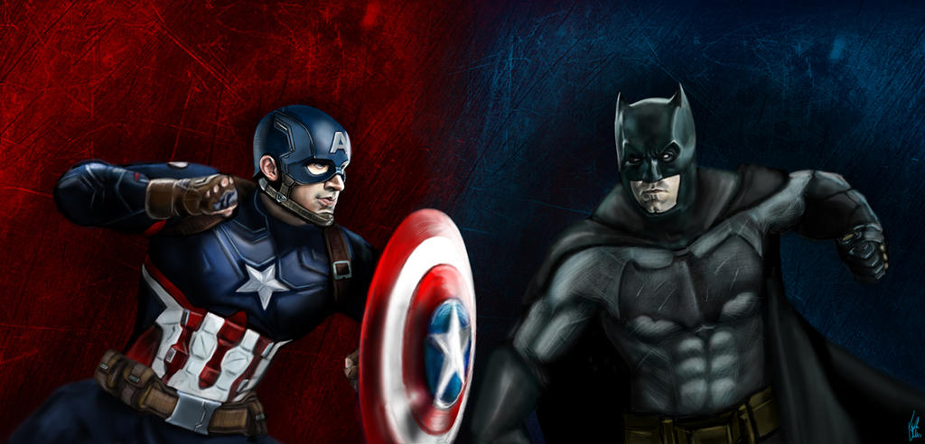 Captain America Vs Batman by Vinnyjohn13