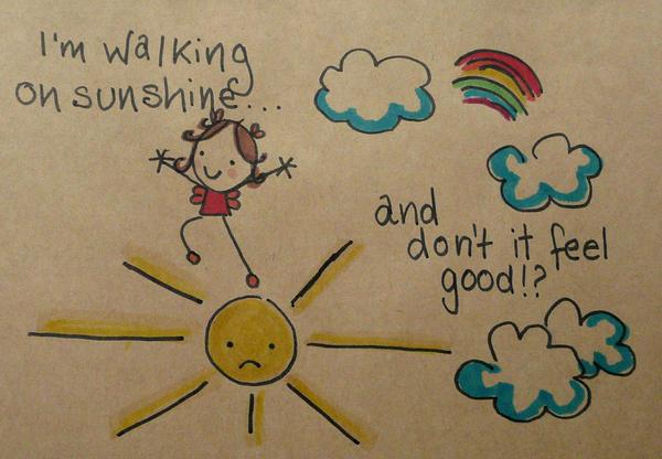Walking on Sunshine by Pinkie-Perfect