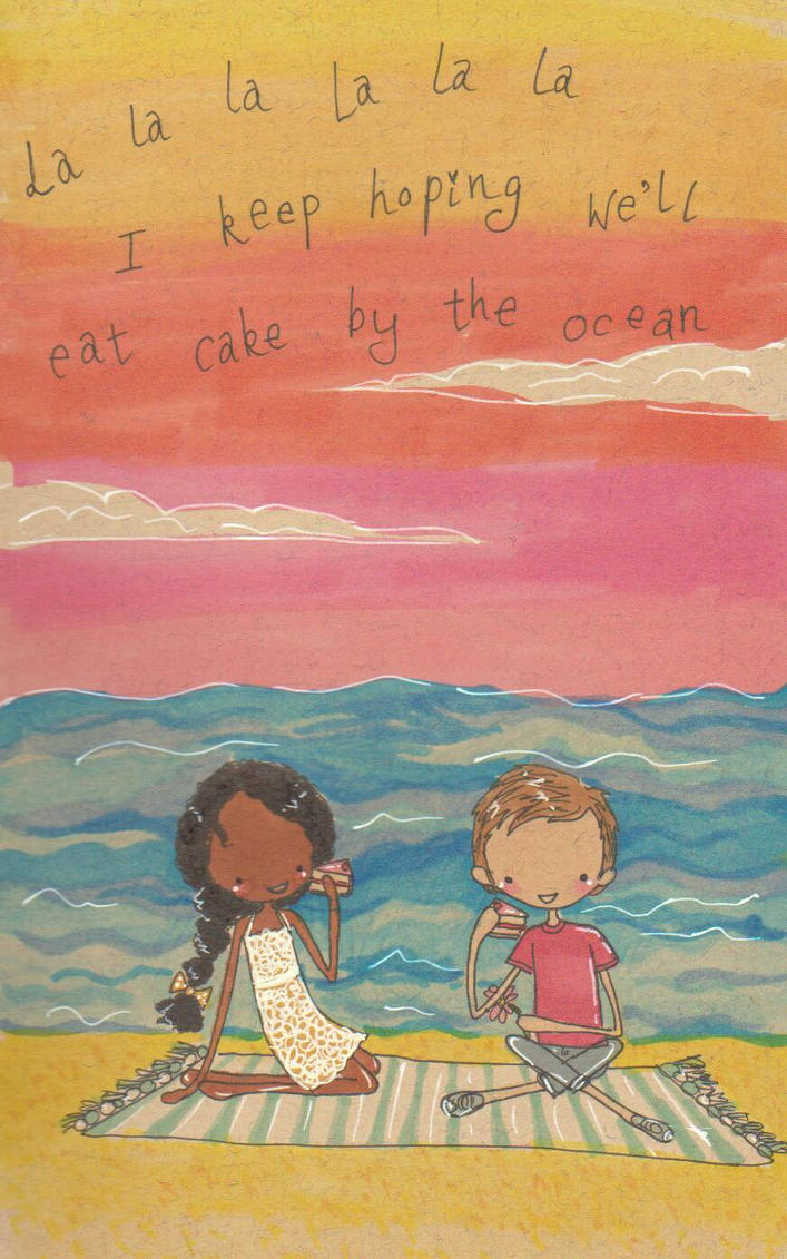Cake by the ocean  by Pinkie-Perfect