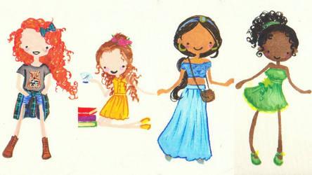 Modern Disney and Pixar Girls