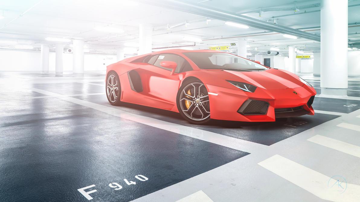 Aventador in Garage  by Ankash
