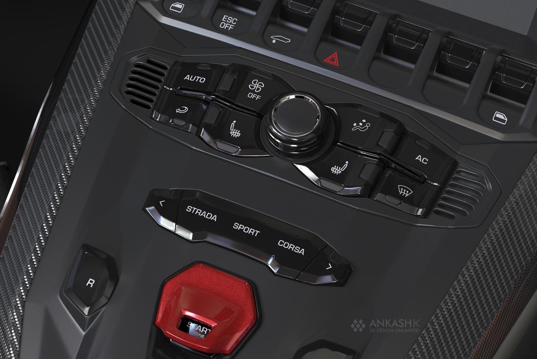 Lamborghini interior Render by Ankash