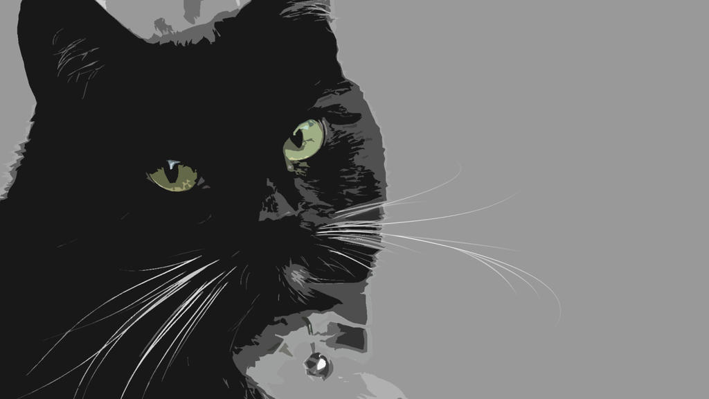 Black Cat Wallpaper Two by coolcat21