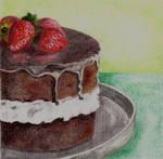 Strawberries-Chocolate Cake