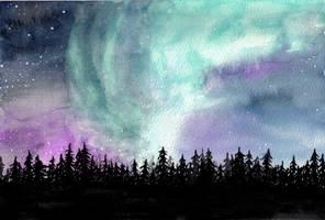 Northern Lights - 1000 kiriban by 11-73-3-33