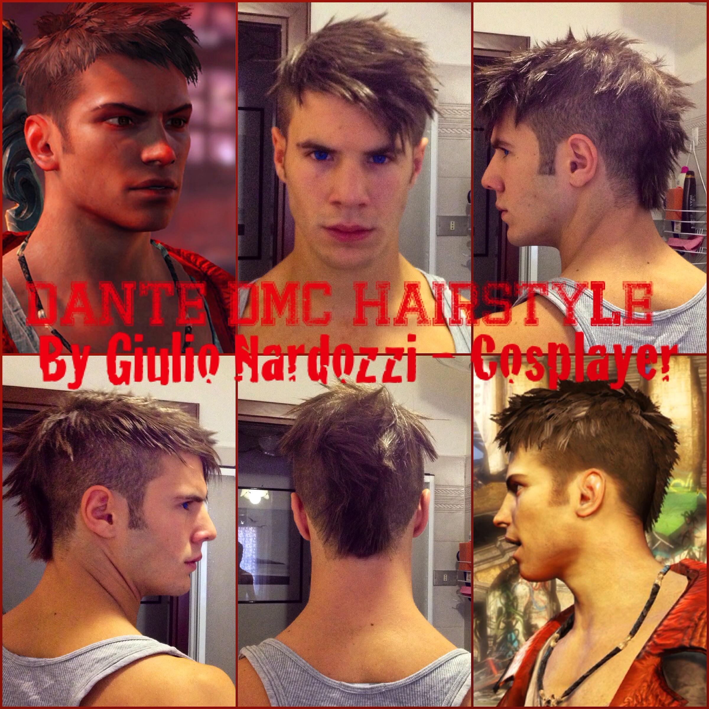 Dmc Devil May Cry Dante Inspired Men 39 S Haircut My Hands My Work Pinterest Devil May