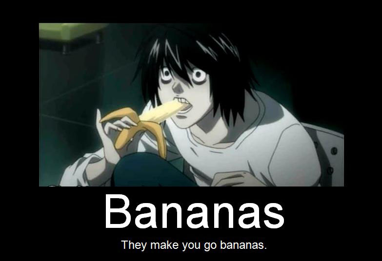 Death Note on Bananas by DarkAngel8980
