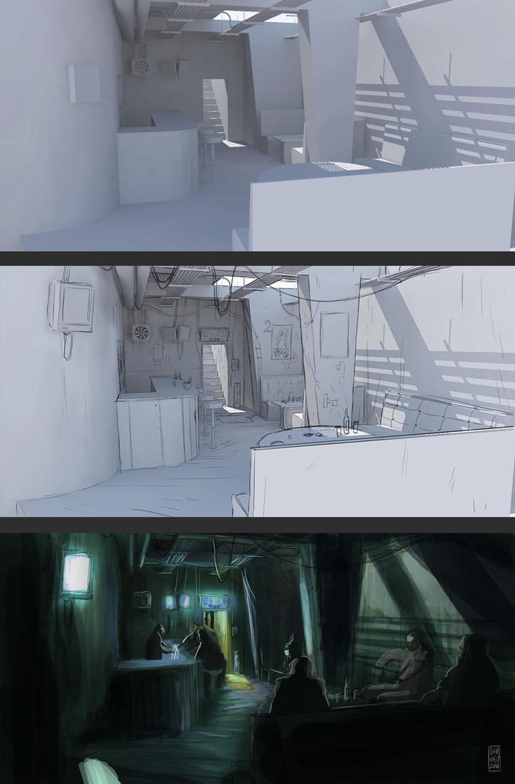 Damna work in progress Cyberpunk_bar_process_unfinished_by_damnagy-dag3amv