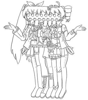 Conjoined Vocaloid Girls