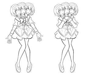 Three Headed Schoolgirl Alice