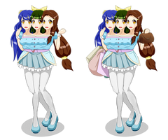Three Headed Shopping Girl by jim830928