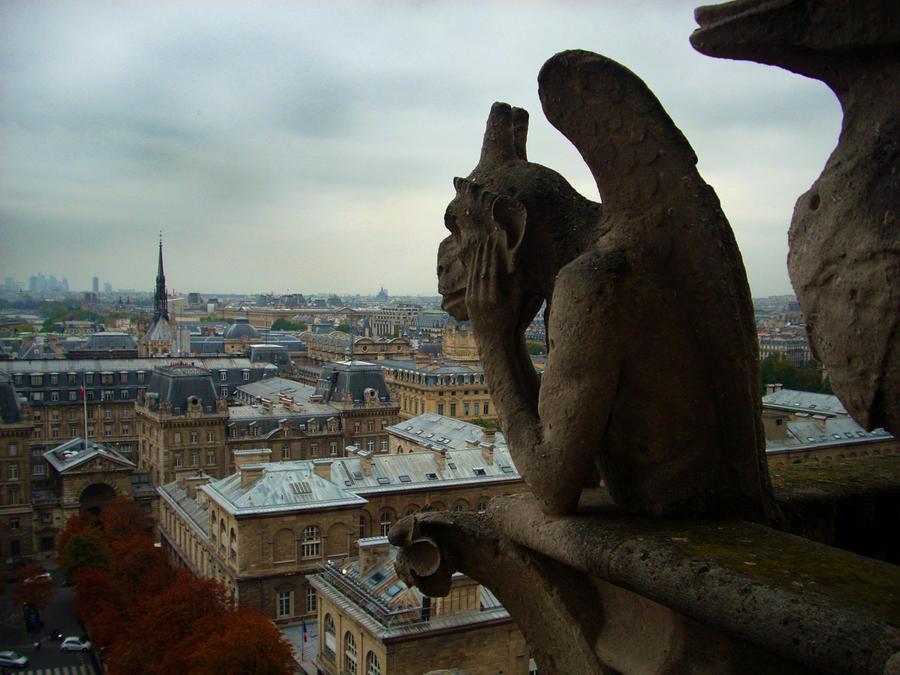 Notre Dame Gargoyle by Captain-Planet