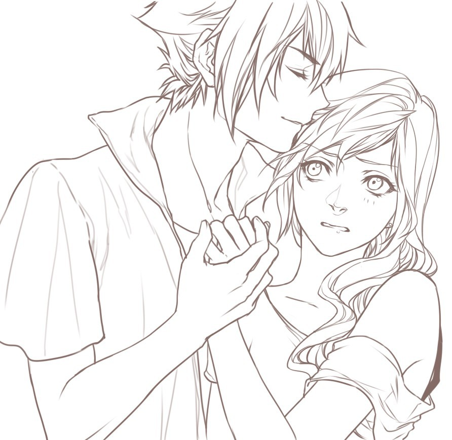 Noctis And Lightning By Relear On Deviantart