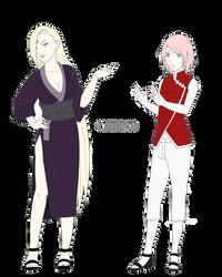Sakura-chan and Ino-san by WHS06