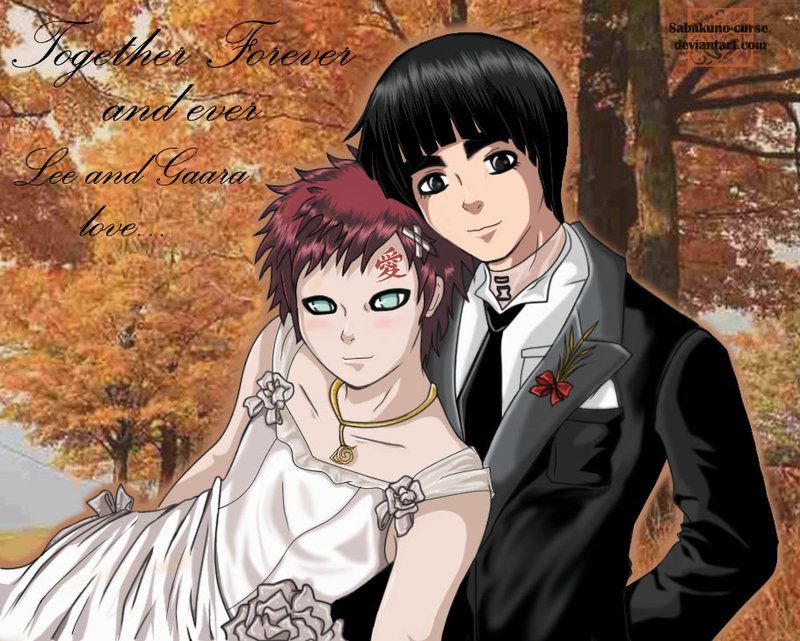 wedding LeeGaara 1 by Gaara-x-Lee-Club on DeviantArt Gaara And Rock Lee Yaoi