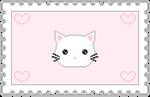 Pastel Kitty Stamp