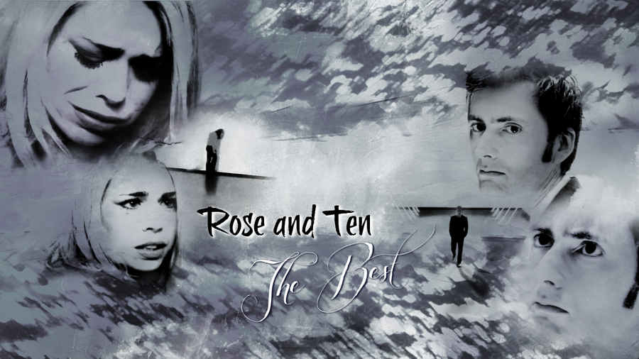 Ten and Rose Tyler by Flayari