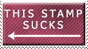 This Stamp Sucks by zakarranda