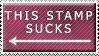 This Stamp Sucks by zakarranda