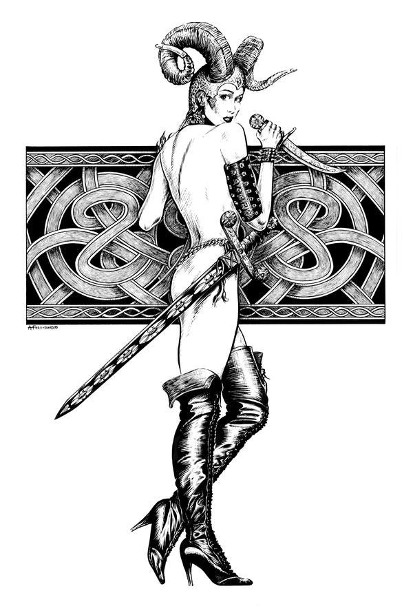 Celtic Girl by maknbacon