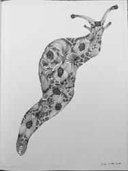 Zentangle slug by flinguini