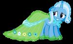 Trixie in Fluttershy Gala Dress