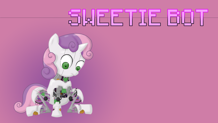 Sweetie Bot Wallpaper by Ezynell