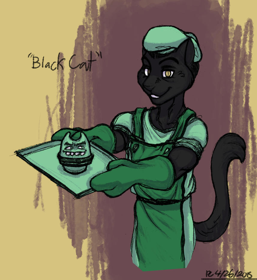 Sketchblog: Black Cat by FlyingRam