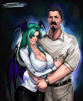 Morrigan And Stanley Commish by megaween