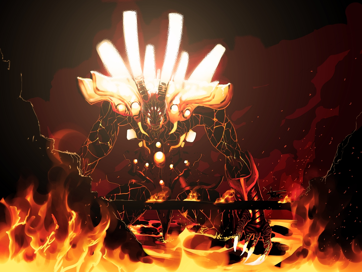 Fire Colossus by megaween