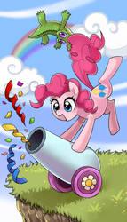 kairean 211 4 My little pony tarot card 0.Fool - Pinkie pie by kairean