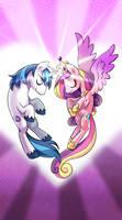 My little pony tarot card 6. The Love by kairean
