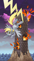 My little pony tarot card 16. The Tower -Derpy