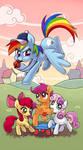 My little pony tarot card 20. Judgement - Dash