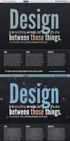 Typography based web portfolio