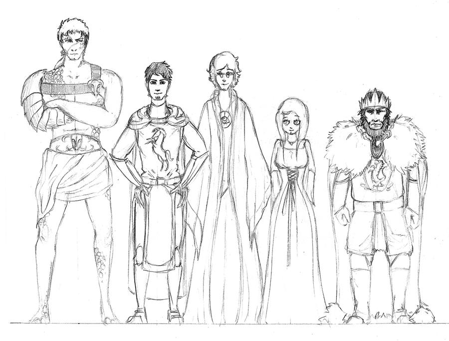 Character Design Lineup : Character lineup by volatilefortune on deviantart