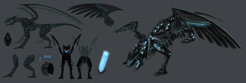 Black metal Dragon by VolatileFortune