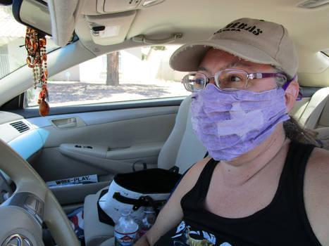 Erin Lale in Thorshammer face mask April 2020