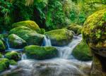 Calming mountain stream