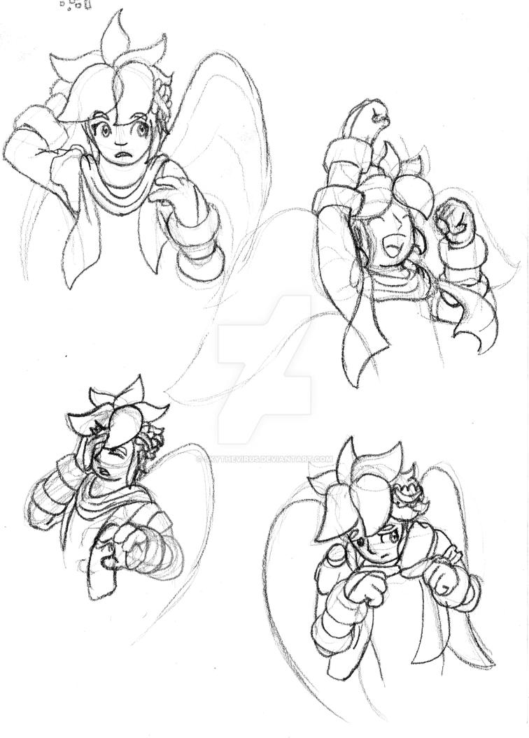 quick pit sketches by skythevirus on deviantart Magicant Super Smash quick pit sketches by skythevirus