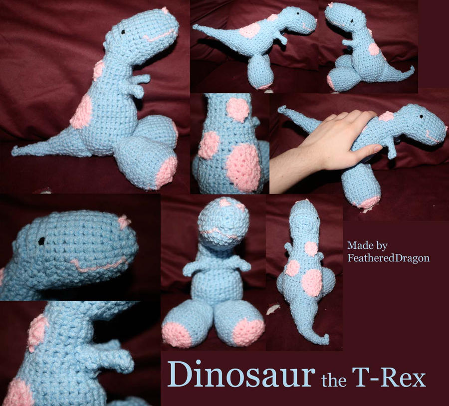 Crochet Dinosaur Afghan Pattern : Crochet T-Rex: Dinosaur by FeatheredDragon on DeviantArt