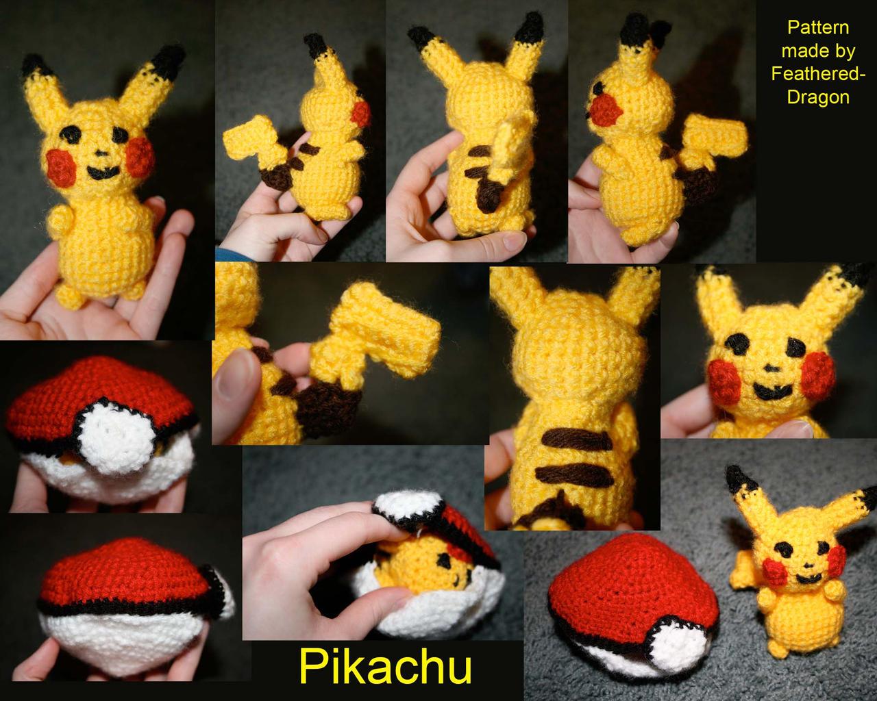 Crochet Pattern For Pikachu : Crochet Pikachu by FeatheredDragon on DeviantArt