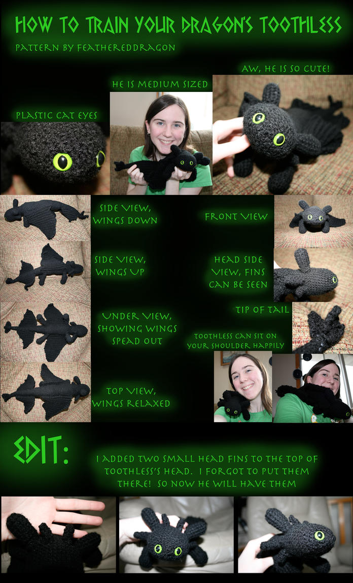 Crochet Toothless the Dragon by FeatheredDragon