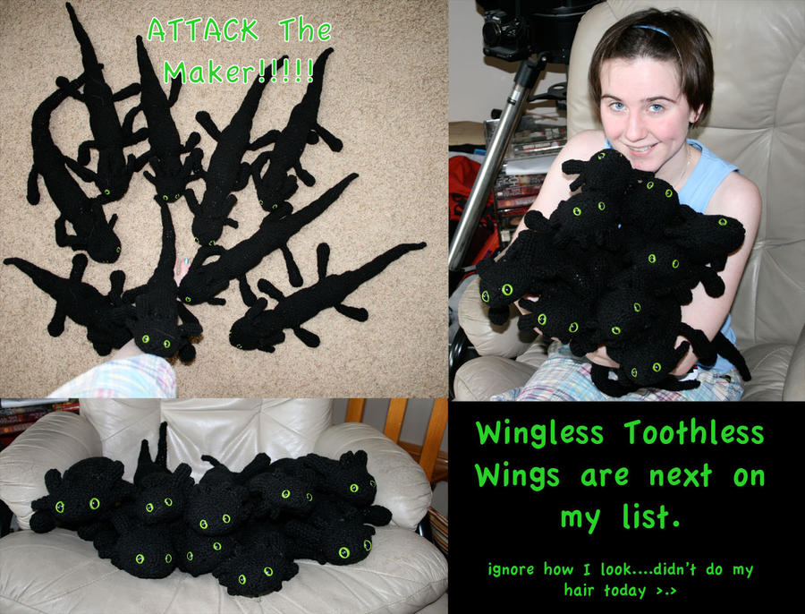 Toothless Dragon Amigurumi Pattern : Crochet too many toothless by feathereddragon on deviantart