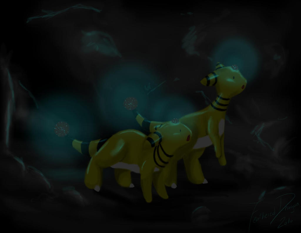 Dark Ampharos Ampharos In The Dark by
