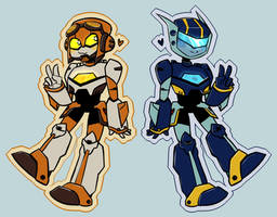 Jettwins stickers by AwokenX