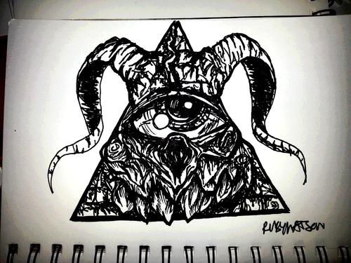 Satanic Illuminati Tattoo By Frankwaygerardiero On Deviantart