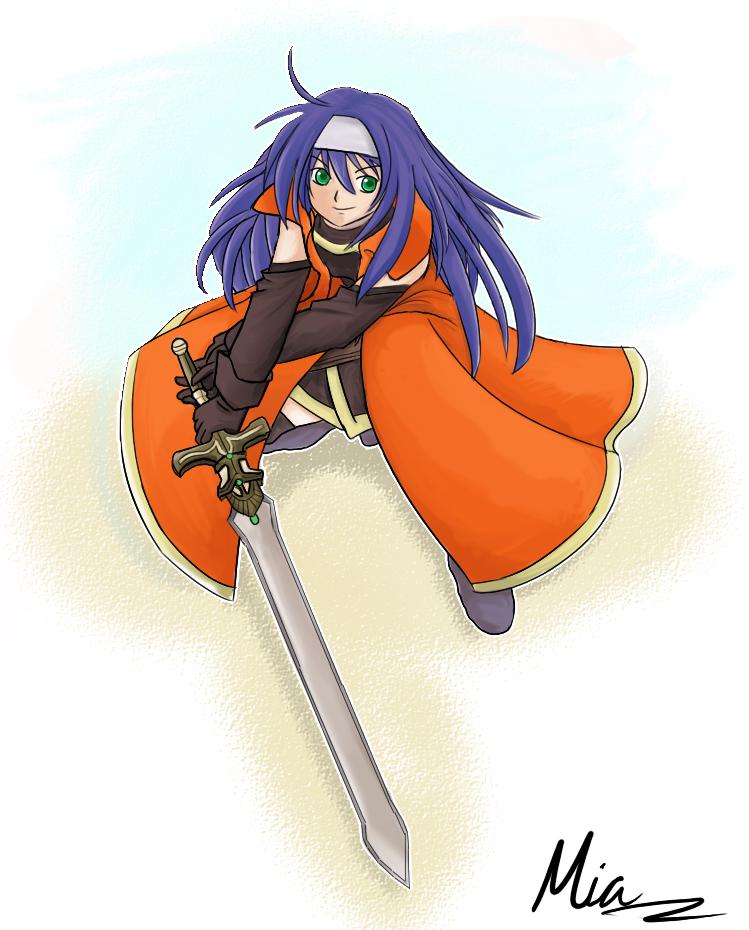 FE10: Trueblade Mia by KitsuneInari