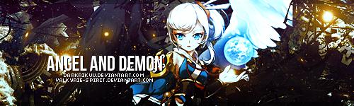 Angel and Demon by DarkRikuu